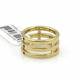 Ippolita Glamazon Orange Sapphire & Diamond 18k Gold Triple Band Ring Rt. $2,895