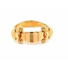 Louis Vuitton Stand By Me 18k Yellow Gold Curved Band Ring Size 53
