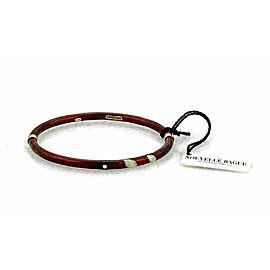 Nouvelle Bague Diamond Red Enamel 18k Gold/Sterling Bracelet