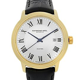 Raymond Weil Maestro Yellow Gold PVD Steel Silver Dial Mens Watch 2237-PC-00659
