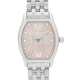 Ulysse Nardin Michelangelo Art Deco Steel Brown Diamond Dial Ladies Watch 103-48