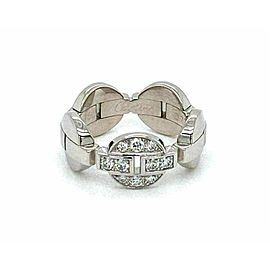 Cartier Himalia Diamond 18k White Gold Band Ring