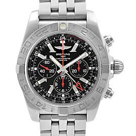 Breitling Chronomat GMT Steel Black Dial Automatic Mens Watch AB041210/BB48-384A