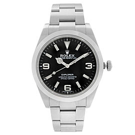 Rolex Explorer 39mm Steel Black Dial Automatic Oyster Smooth Mens Watch 214270