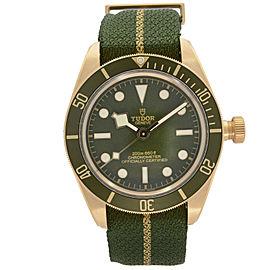 Tudor Black Bay Fifty-Eight 39MM 18K Yellow Gold Green Dial Mens Watch 79018V