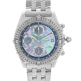 Breitling Chronomat 40mm Chronograph Stainless Steel MOP Dial Mens Watch A13352