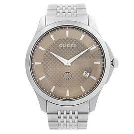 Gucci G-Timeless 40mm Stainless Steel Bronze Dial Quartz Mens Watch YA126349