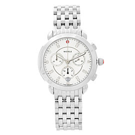Michele Sidney Stainless Steel Diamond MOP Dial Quartz Ladies Watch MWW30A000015