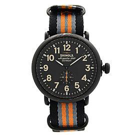 Shinola The Runwell 47mm Black PVD Steel Black Dial Quartz Mens Watch 10000142