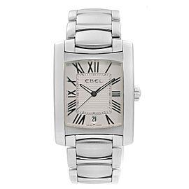 Ebel Brasilia Stainless Steel White Roman Numeral Dial Quartz Men Watch E9255M41