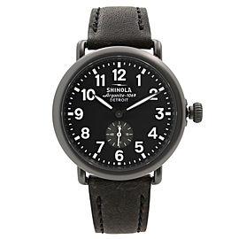 Shinola The Runwell 41mm Gunmetal Steel Black Dial Quartz Mens Watch S0120077935