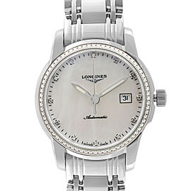 Longines Saint Imier Stainless Steel M.O.P Dial Automatic Ladies Watch L25630876