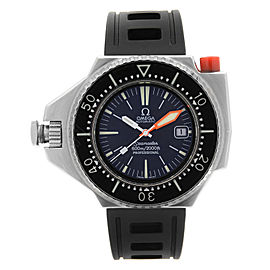 Omega Seamaster 600 Ploprof Steel Blue Dial Automatic Mens Watch 166.0077