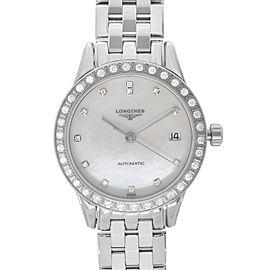 Longines Flagship Steel Diamond MOP Dial Automatic Ladies Watch L42740876