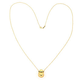 Tiffany & Co. Peretti 18k Yellow Gold Bottle Inro Pendant Necklace