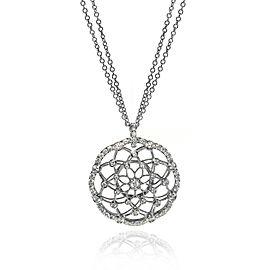 Luca Carati 18K White Gold Diamond Pendant Necklace 1.78Cttw