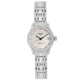Longines Saint Imier Steel MOP Diamond Dial Automatic Ladies Watch L22630876