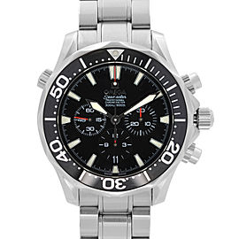 Omega Seamaster Diver 300M Steel Chronograph Black Dial Mens Watch 2594.52.00