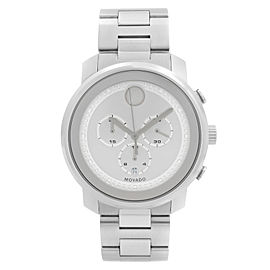 Movado Bold Chronograph Stainless Steel Silver Dial Quartz Mens Watch 3600276