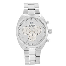 Movado Datron Stainless Steel Chronograph Silver Dial Quartz Mens Watch 0606477
