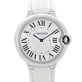 Cartier Ballon Bleu 36mm Steel Silver Dial Automatic Unisex Quartz Watch