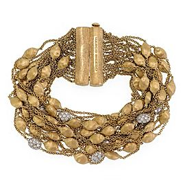 Marco Bicego Siviglia 1ct Diamond 18k Gold Bead Multistrand Chain Bracelet