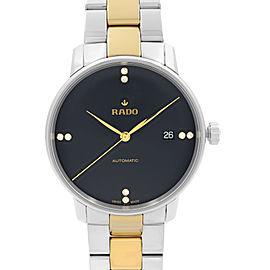 Rado Coupole Classic Steel Black Diamond Dial Automatic Mens Watch