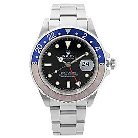 Rolex GMT-Master Steel Pepsi Bezel Black Dial Automatic Mens Watch 16700