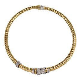 Nouvelle Bague 1.00ct Diamond 18k Gold Fancy Tubogas Spiral Flex Necklace