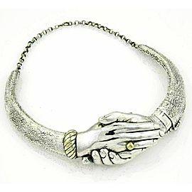 Vintage Yaacov Heller Handshake Choker Necklace