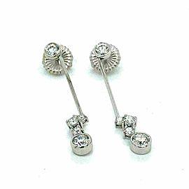 Hearts on Fire 18k White Gold Effervescence 1.61ct Diamond Dangle Earrings