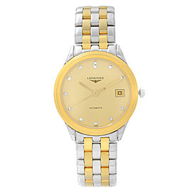 Longines Flagship 36mm Steel Champagne Dial Automatic Mens Watch L4.774.3.37.7