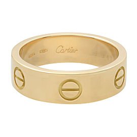 Cartier Love Ring 18K Yellow Gold Size 57 US 8