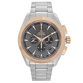 Omega Seamaster Aqua Terra 18k Gold Steel Grey Dial Watch 231.20.44.50.06.002