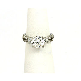 New Scott Kay 1.06ct Diamond Platinum Mounting Solitaire wAccent Engagement Ring