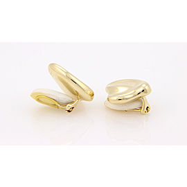 """Tiffany & Co. 18K Yellow Gold Elsa Peretti Spain """"Curved"""" Clip On Earrings"""