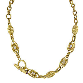 Vintage 18K Yellow Gold .80ctw Diamond Necklace