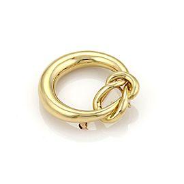 Tiffany & Co. Retro 18k Yellow Gold Sailor Knot Open Circle Pendant Brooch