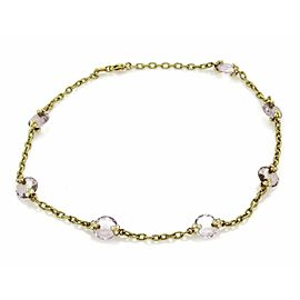Judith Ripka Diamond & Amethyst 18k Yellow Gold Textured Fancy Necklace
