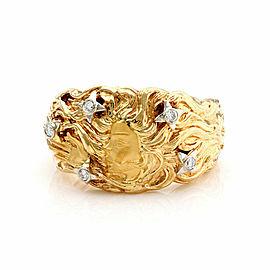 Carrera y Carrera Venus Diamond 18k Yellow Gold Wide Band Ring