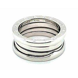 Bvlgari B.zero1 Three Band 18k White Gold Ring Size 53