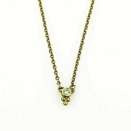 Judith Ripka Mini Dew Drop Diamond 18k Yellow Gold Necklace