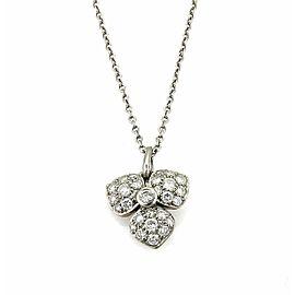 Tiffany & Co. Petal Diamond Platinum Pendant Necklace