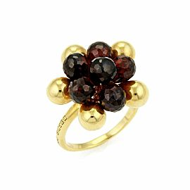 Marco Bicego Acapulco Garnet 18k Yellow Gold Beaded Cluster Ring