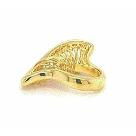 Filigree Basket Twisted 14k Yellow Gold Open Long Top Ring