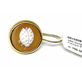 Ippolita Ladybug Shell Cameo Clear Quartz Single 18k Gold Earring