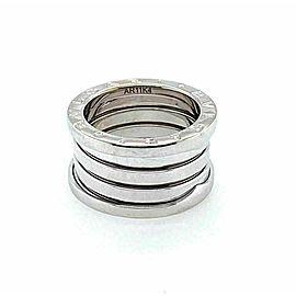 Bvlgari B.zero1 Wide 18k White Gold 12mm Band Ring Size 50