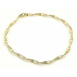 Estate 14k Yellow Gold 6.2mm Wide Fancy Twisted Necklace