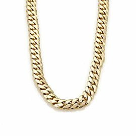 """Men's 14k Yellow Gold 7.5mm Wide Curb Link 25"""" Chain Necklace 97gr"""
