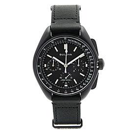 Bulova Special Edition Lunar Pilot Steel Chronograph Quartz Mens Watch 98A186